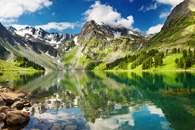 Fototapeten Berge und Seen